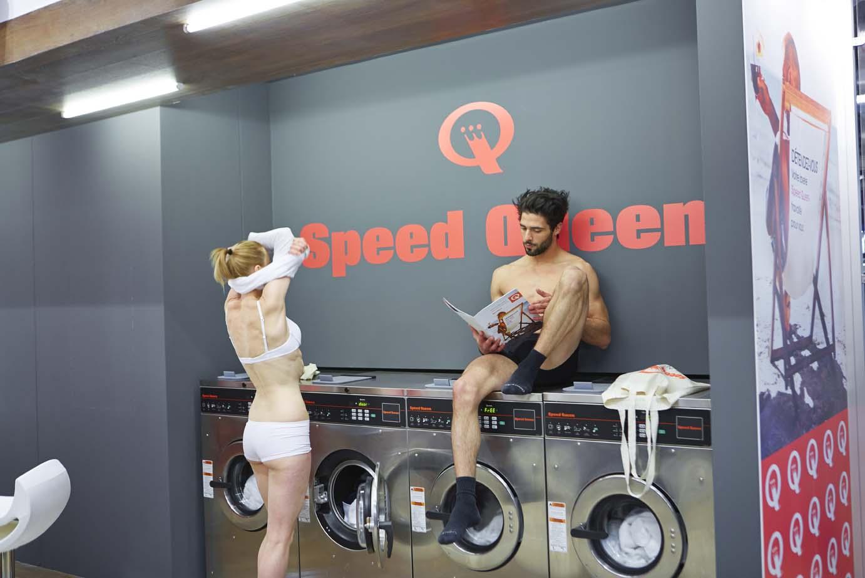 Démonstration laverie Speed Queen à Paris 7