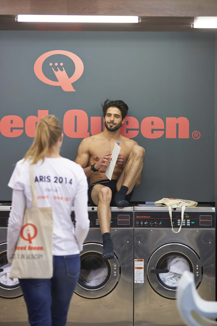 Démonstration laverie Speed Queen à Paris 1