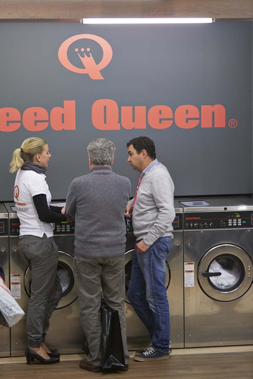 Le système des laveries Speed Queen à Paris
