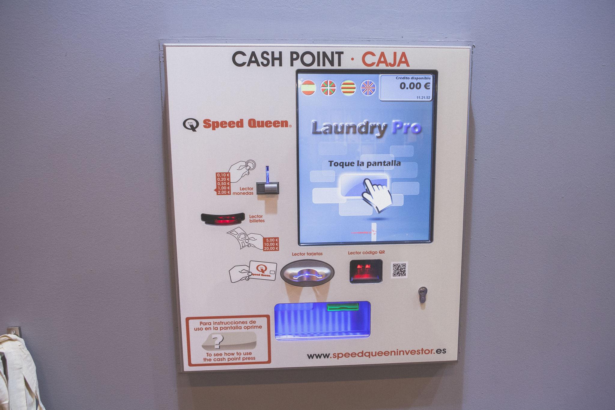 Máquina cash point Speed Queen en España