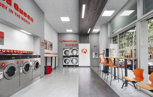 Inside Speed Queen Laundry store in Italy