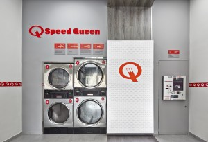 Speed Queen coin-operated washers in Italy