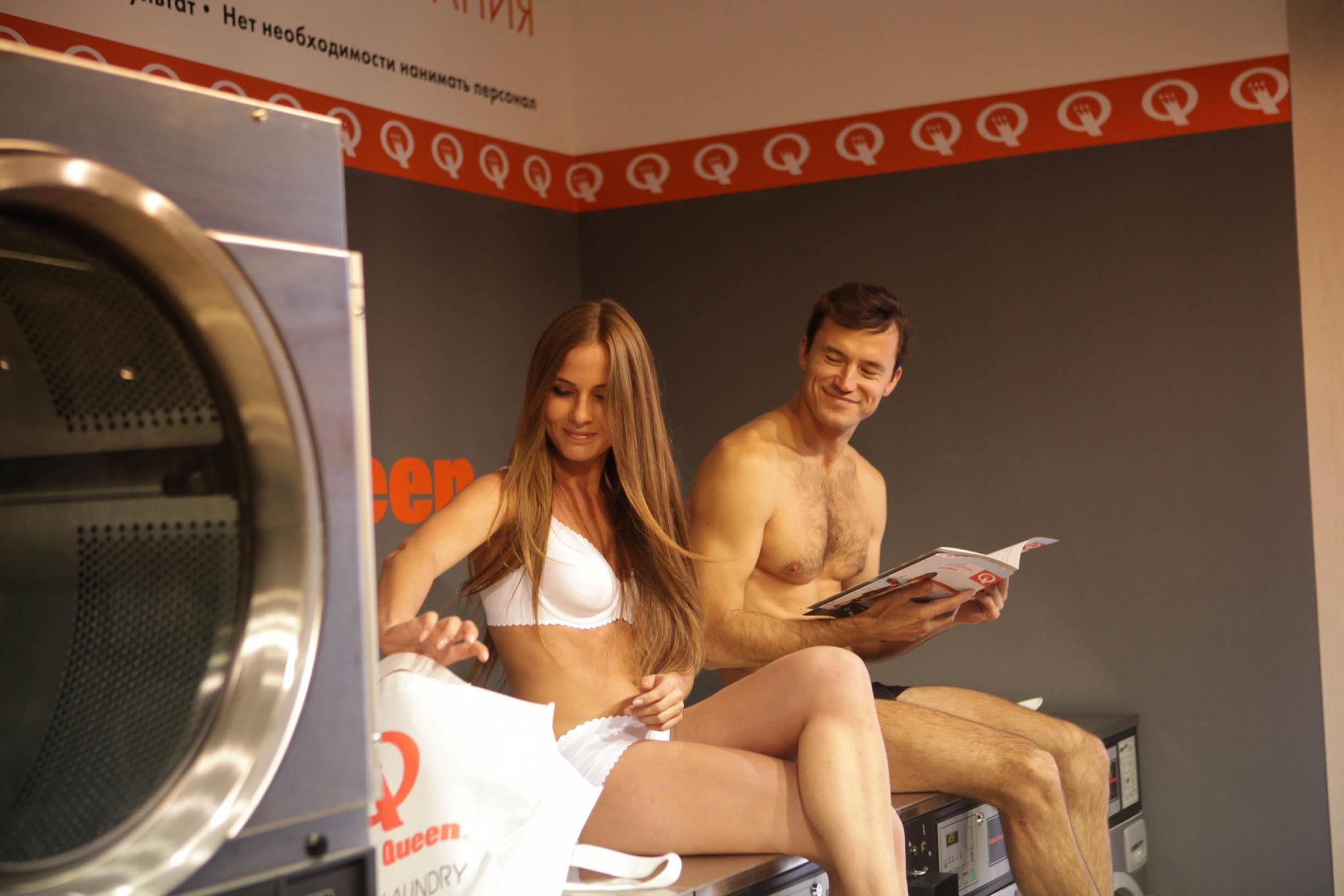 Speed Queen washing machine demonstration 2 in Russia