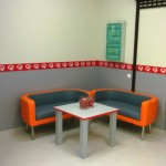 Chillout area in Speed Queen laundromat in Lithuania