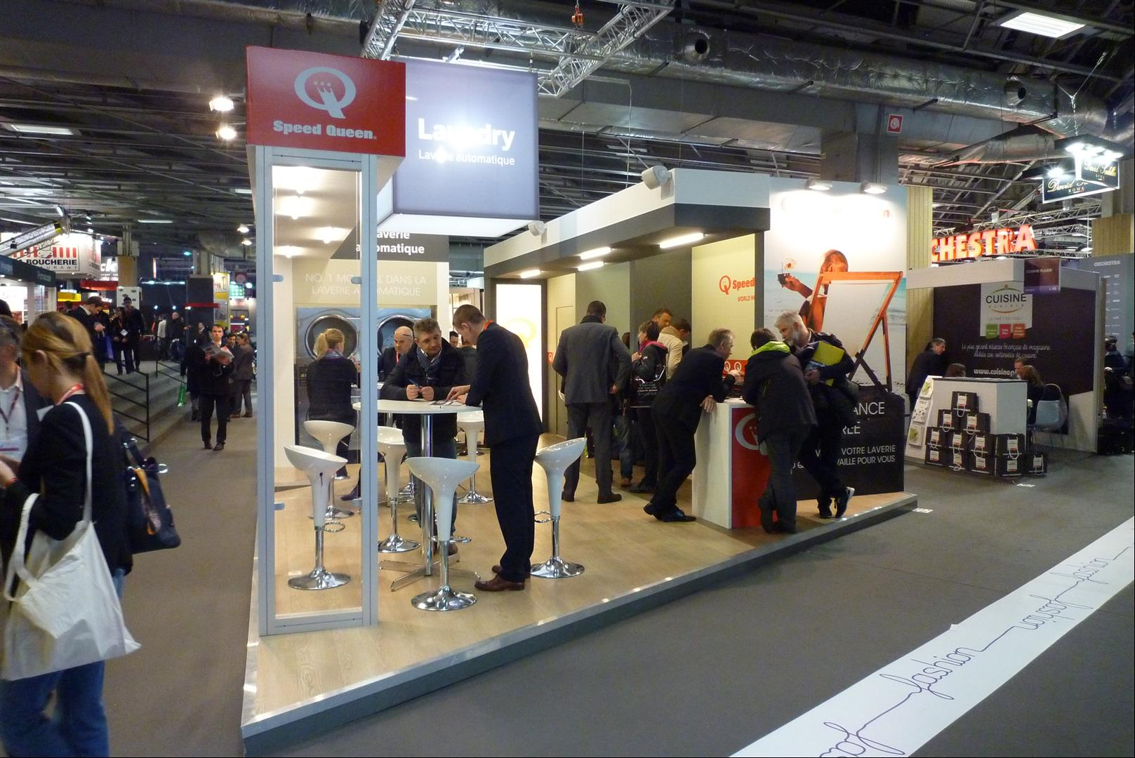 Stand laverie Speed Queen expo en France
