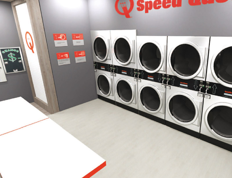 Coin operated Speed Queen washers in Germany