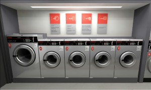 Speed Queen washing machines in UK launderette