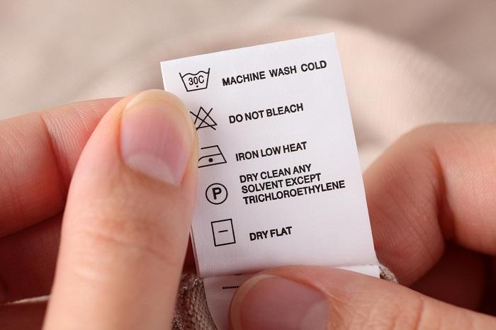 Os significados das etiquetas de lavagem